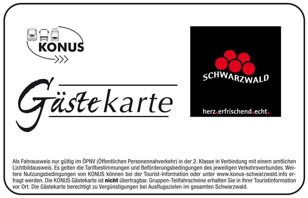 konus karte schwarzwald 2020 KONUS Gästekarte: Schwarzwald Freifahrtticket + Extras